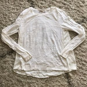 Loft white sweater with blouse back